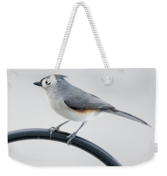 Profile Of A Tufted Titmouse Weekender Tote Bag