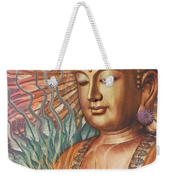 Proliferation Of Peace - Buddha Art By Christopher Beikmann Weekender Tote Bag