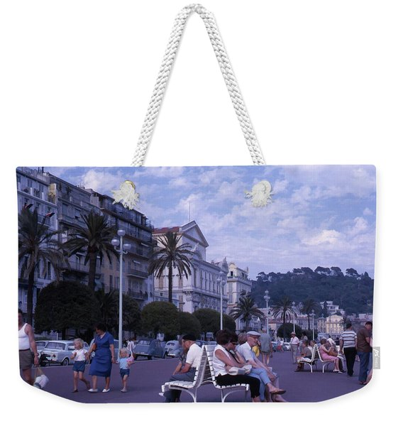 Promenade Des Anglais, Nice, France Weekender Tote Bag