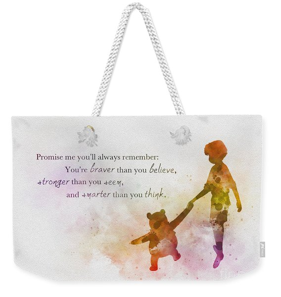 Promise Me You'll Always Remember Weekender Tote Bag