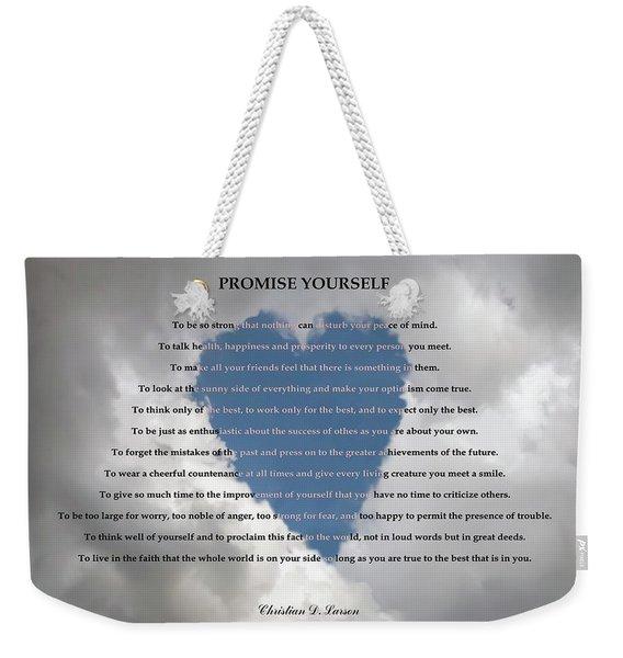 Promise Yourself Weekender Tote Bag