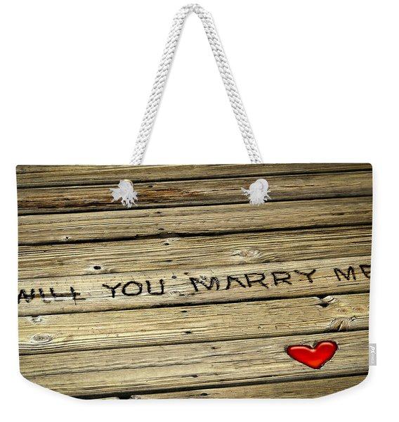 Propose To Me Weekender Tote Bag