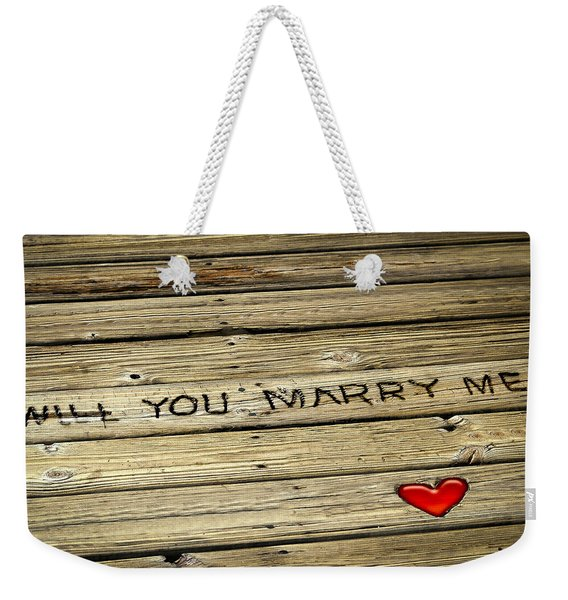 Weekender Tote Bag featuring the photograph Propose To Me by Carolyn Marshall