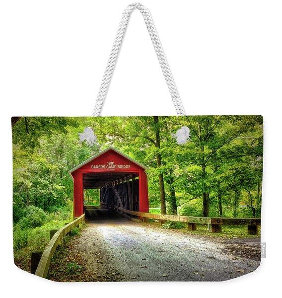 Protected Crossing In Summer Weekender Tote Bag