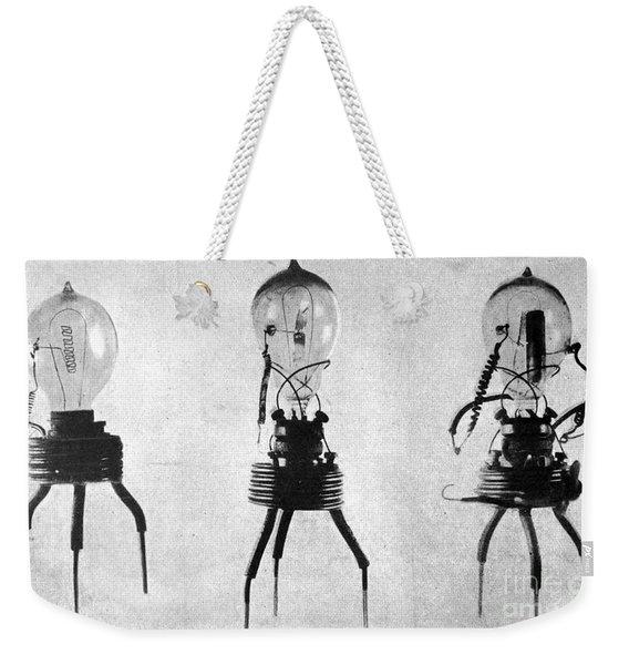 Prototype Fleming Valves, 1904 Weekender Tote Bag