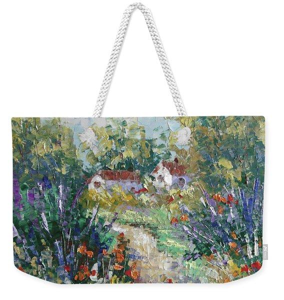 Provence Path Weekender Tote Bag