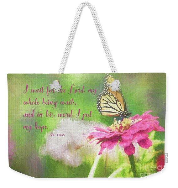 Psalm 130 Weekender Tote Bag