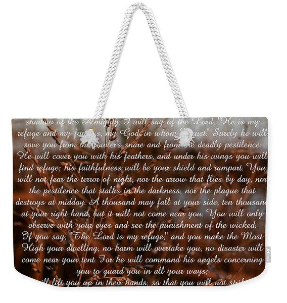 Psalm 91 Weekender Tote Bag