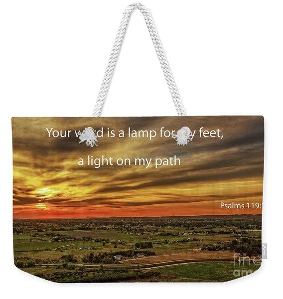 Psalms 119 Weekender Tote Bag