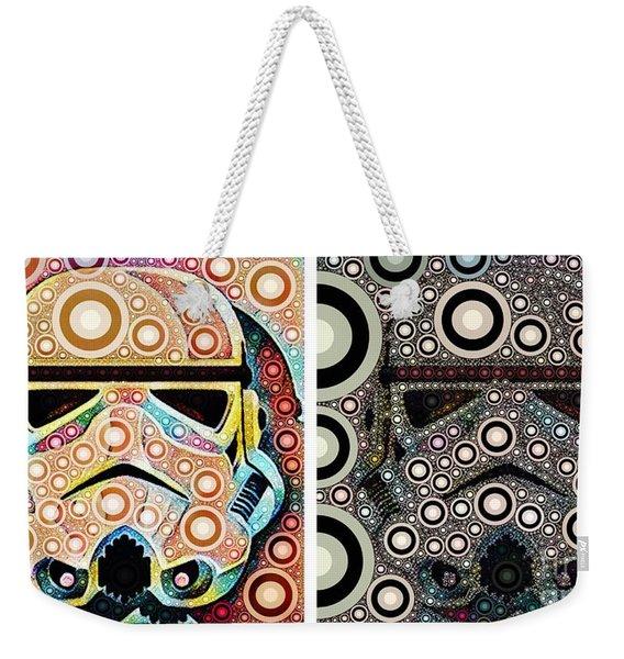 Psychedelic Binom Weekender Tote Bag