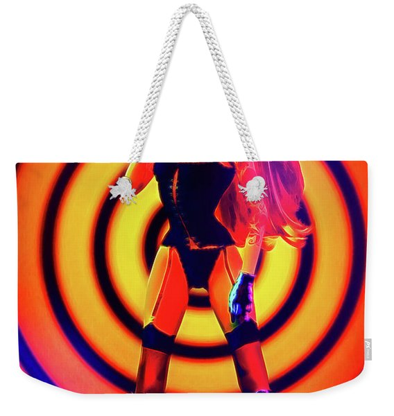 Psychedelic Hypnotic Pin-up Girl Weekender Tote Bag