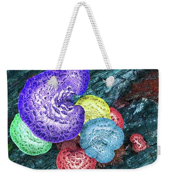 Psychedelic Mushrooms Weekender Tote Bag