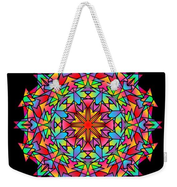 Psychedelic Porcupine Mandala Weekender Tote Bag