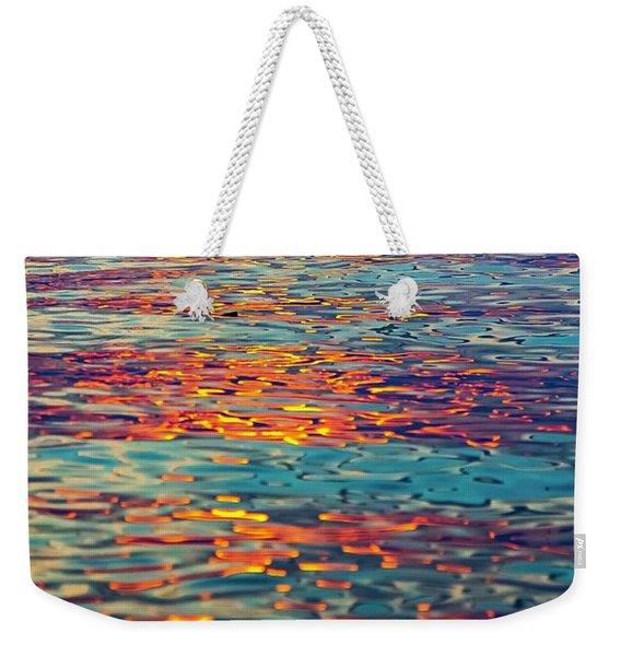 Psychedelic Sunset Weekender Tote Bag