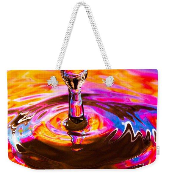 Psychedelic Water Drop Weekender Tote Bag