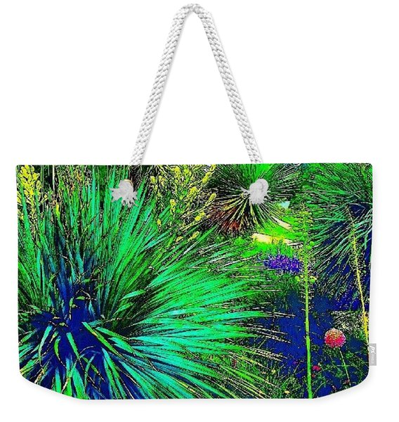 Psychedelic Yuccas. #plant #yucca Weekender Tote Bag
