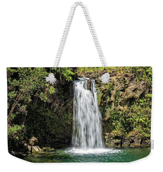 Weekender Tote Bag featuring the photograph Pua'a Ka'a Falls by Jim Thompson