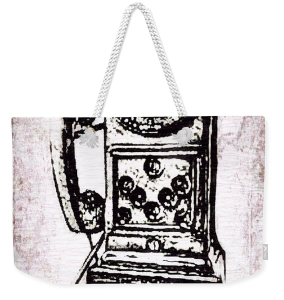Public Pay Telephone Weekender Tote Bag