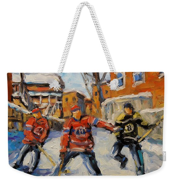 Puck Control Hockey Kids Created By Prankearts Weekender Tote Bag