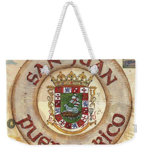 Puerto Rico Coat Of Arms Weekender Tote Bag