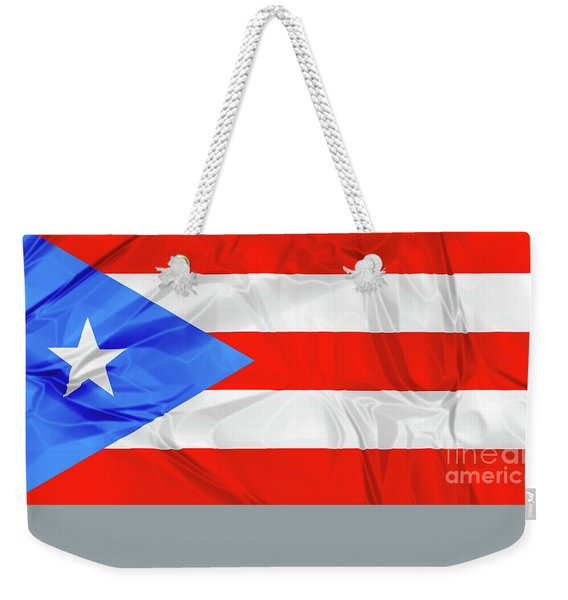 Weekender Tote Bag featuring the photograph Puerto Rico Flag by Benny Marty