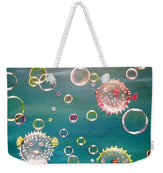 Puffer Fish Bubbles Weekender Tote Bag