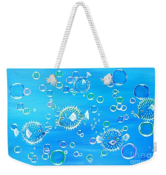 Pufferfish Playtime Weekender Tote Bag