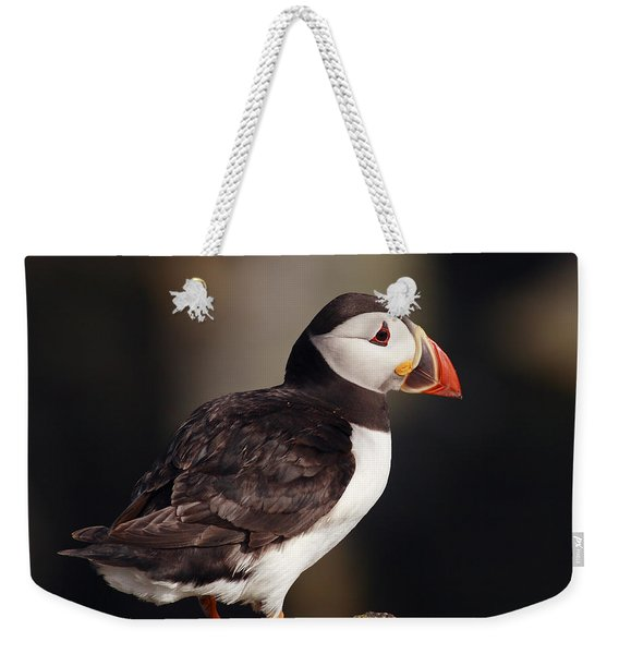 Puffin On Rock Weekender Tote Bag