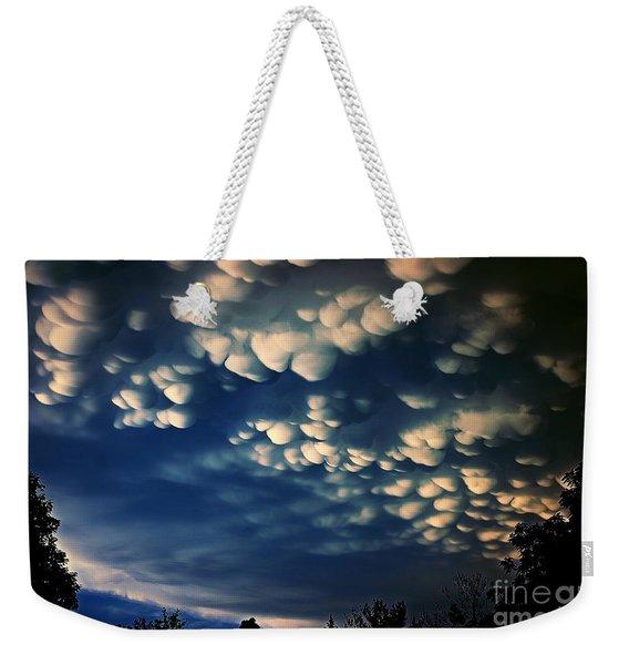 Puffy Storm Clouds Weekender Tote Bag