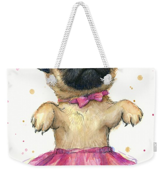 Pug In A Tutu Weekender Tote Bag