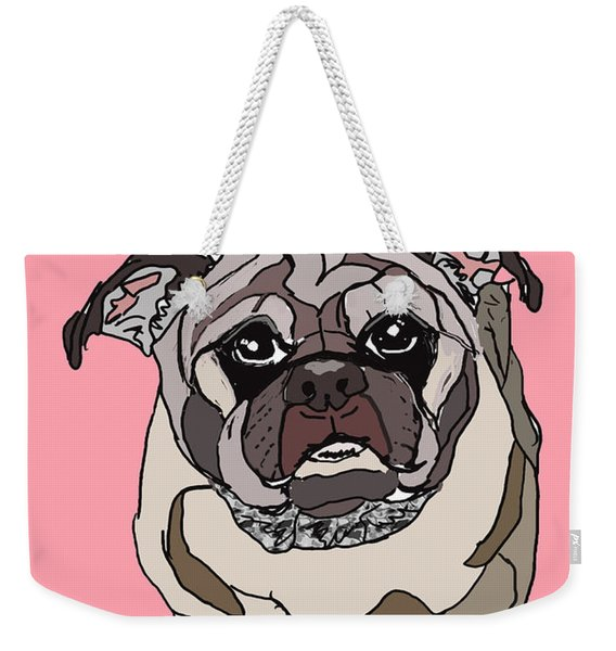 Pug In Digi Weekender Tote Bag
