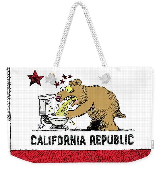 Puke Politics Weekender Tote Bag