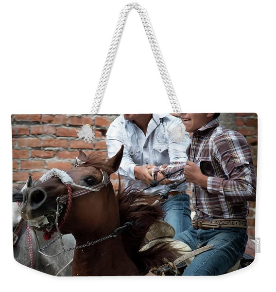Pull Me If You Can Weekender Tote Bag
