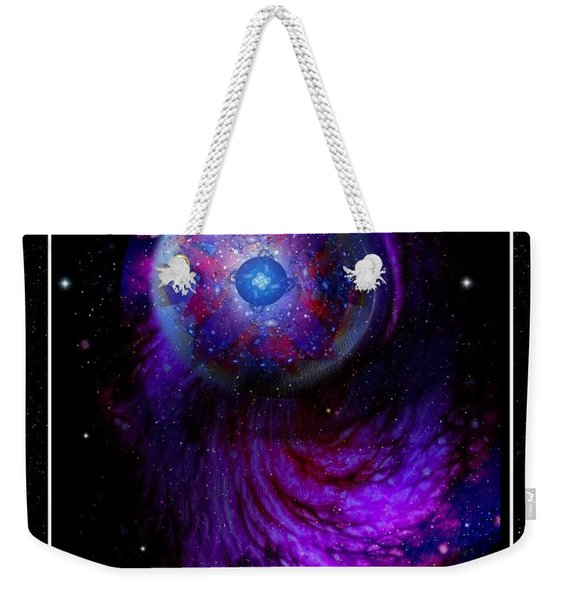 Pulsar At The Edge Of Space Weekender Tote Bag