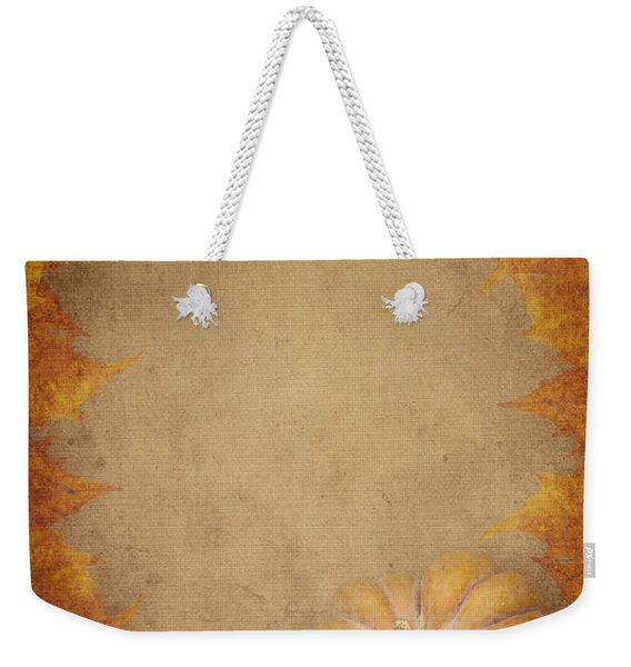 Pumpkin And Maple Leaves Weekender Tote Bag