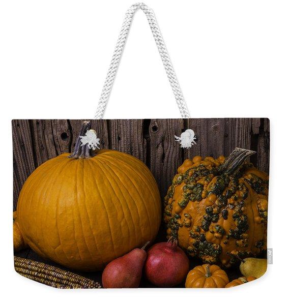 Pumpkin Autumn Still Life Weekender Tote Bag
