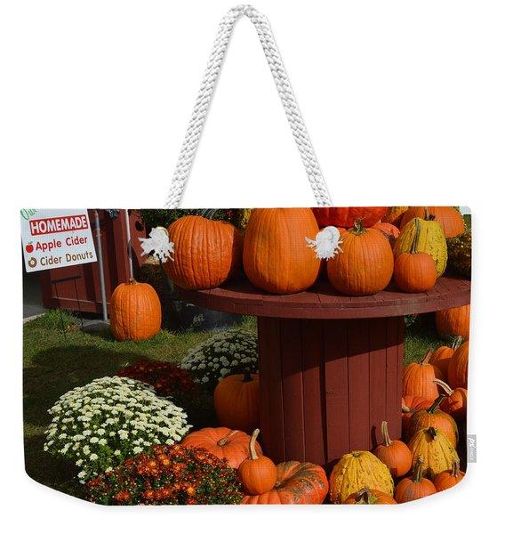 Pumpkin Display Weekender Tote Bag