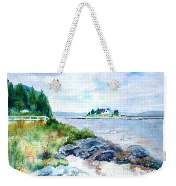 Pumpkin Island Light Weekender Tote Bag