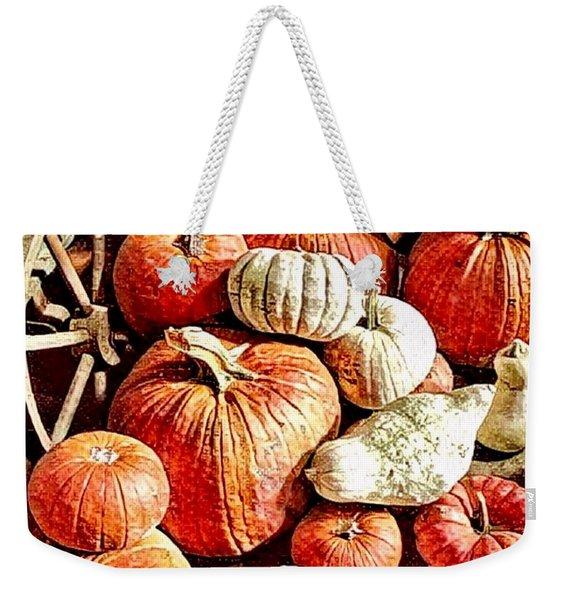 Pumpkins In The Barn Weekender Tote Bag