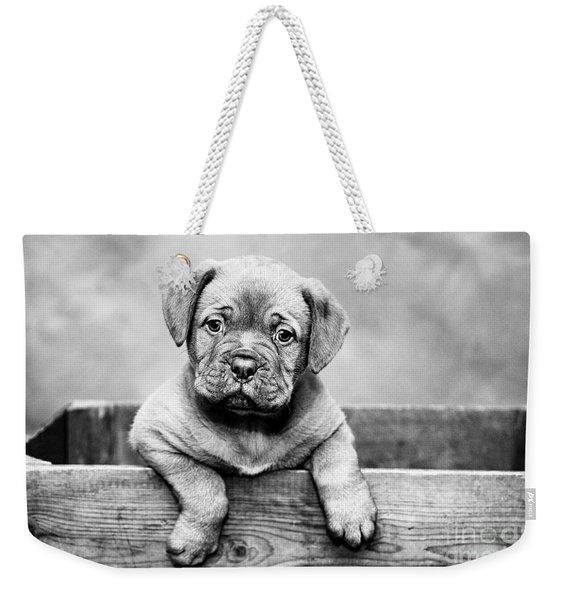 Puppy - Monochrome 3 Weekender Tote Bag