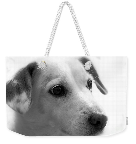 Puppy - Monochrome 4 Weekender Tote Bag