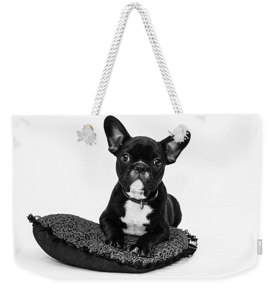 Puppy - Monochrome 5 Weekender Tote Bag