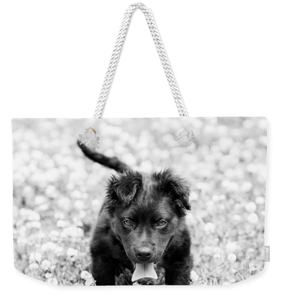 Puppy Play Weekender Tote Bag