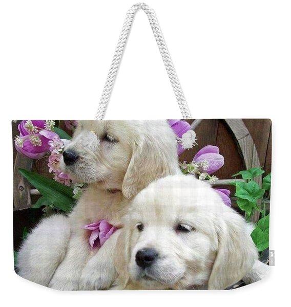 Pups Weekender Tote Bag