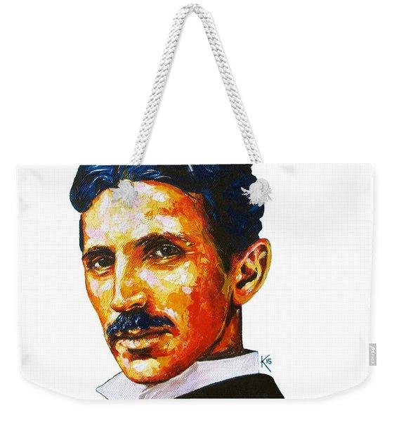 Pure Genius - Tesla Weekender Tote Bag