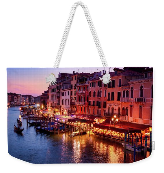Cityscape From The Rialto In Venice, Italy Weekender Tote Bag