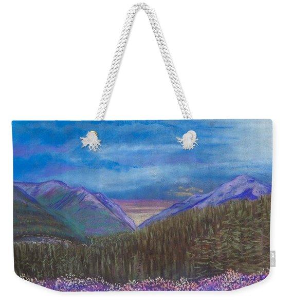 Purple Alaska Weekender Tote Bag