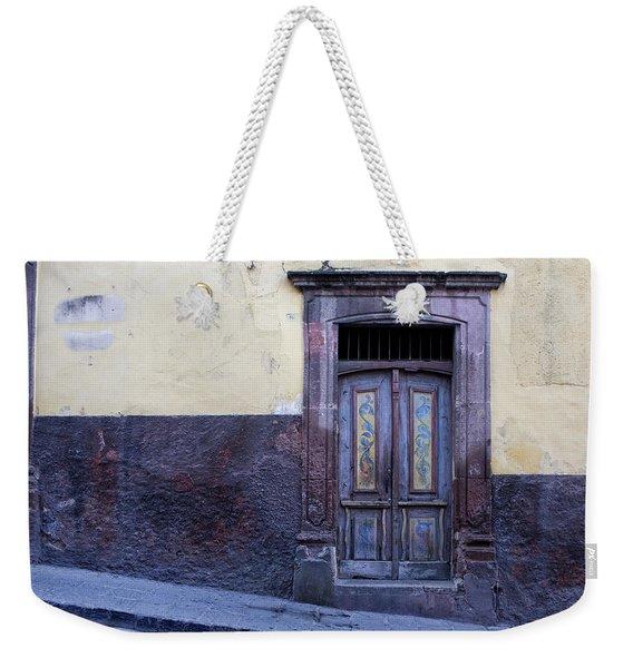 Purple And Blue Door Mexico Weekender Tote Bag