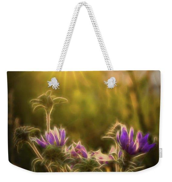 Purple Aster Glow Weekender Tote Bag