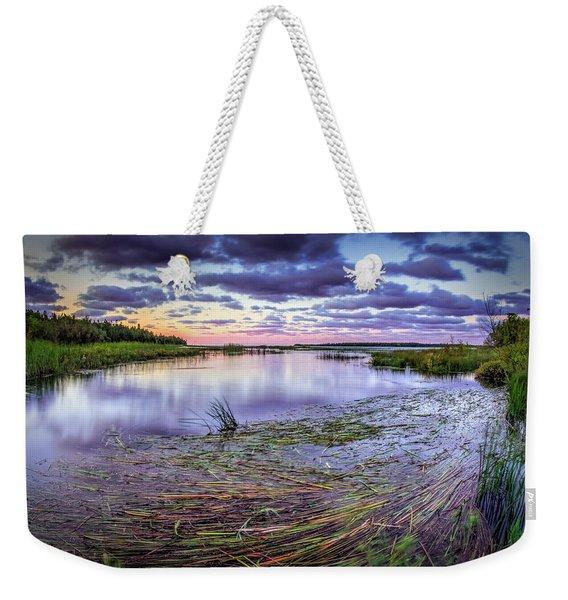 Purple Bay Weekender Tote Bag